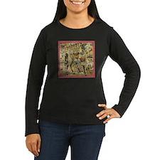 Carousel Women'S Women'S Long Sleeve Dark T-Shirt