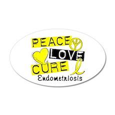 Peace Love Cure 1 Endometrio Wall Decal