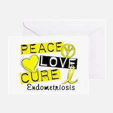 Peace Love Cure 1 Endometriosis Greeting Card