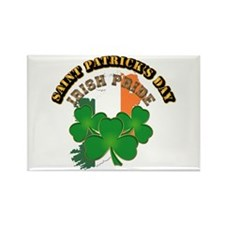 Saint Patrick's Day with text Rectangle Magnet