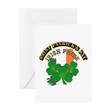 Saint Patrick's Day with text Greeting Card