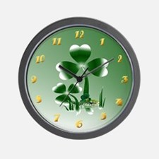 Shamrocks N Snakes Wall Clock