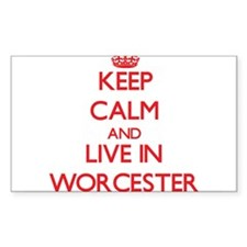 Keep Calm and Live in Worcester Decal
