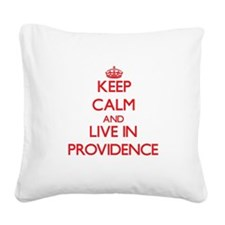 Keep Calm and Live in Providence Square Canvas Pil