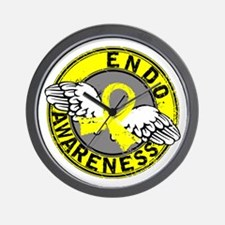 Awareness 14 Endometriosis Wall Clock