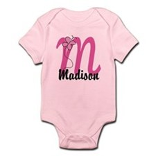 Personalized Monogram Letter M Infant Bodysuit