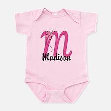 Personalized Monogram Letter M Infant Bodysuit