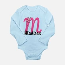 Personalized Monogram Long Sleeve Infant Bodysuit