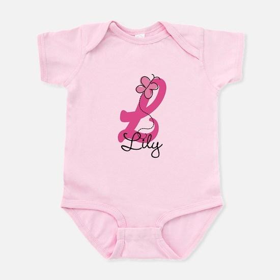 Personalized Monogram Letter L Infant Bodysuit