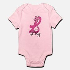 Personalized Monogram Letter L Onesie
