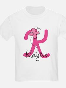Personalized Monogram Letter K T-Shirt