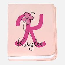 Personalized Monogram Letter K baby blanket