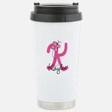 Personalized Monogram L Stainless Steel Travel Mug