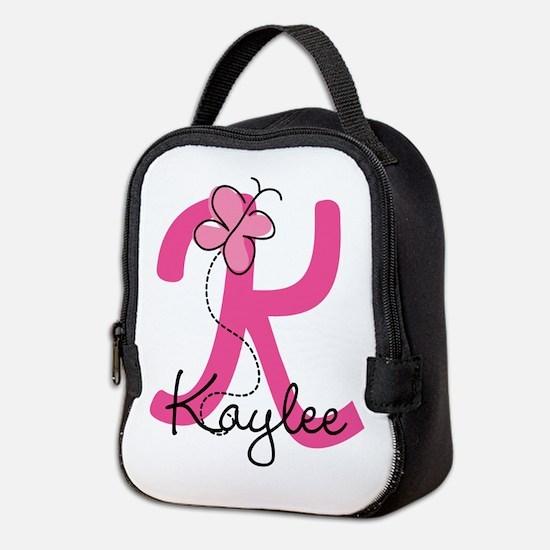 Personalized Monogram Letter K Neoprene Lunch Bag