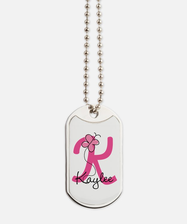 Personalized Monogram Letter K Dog Tags