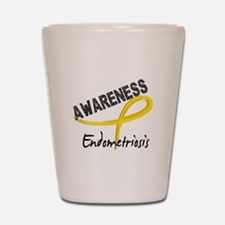Awareness 3 Endometriosis Shot Glass