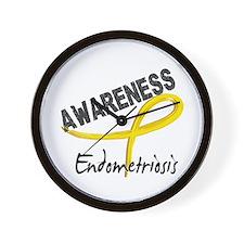Awareness 3 Endometriosis Wall Clock