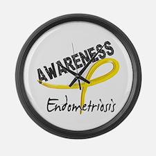 Awareness 3 Endometriosis Large Wall Clock