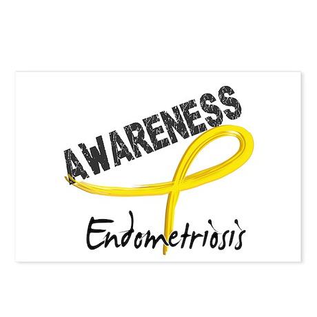 Awareness 3 Endometriosis Postcards (Package of 8)