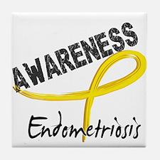 Awareness 3 Endometriosis Tile Coaster