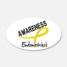 Awareness 3 Endometriosis Oval Car Magnet