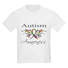 Tribal Ribbon Autism T-Shirt