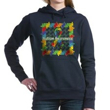 Autism Puzzle Square Hooded Sweatshirt