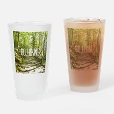 Go Hiking Drinking Glass