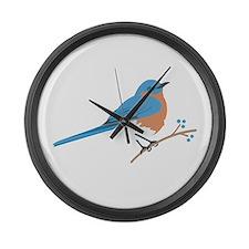 Eastern Bluebird Large Wall Clock