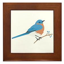 Eastern Bluebird Framed Tile