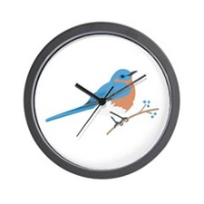 Eastern Bluebird Wall Clock
