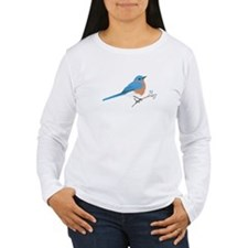 Eastern Bluebird Long Sleeve T-Shirt