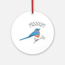 Missouri Bluebird Ornament (Round)