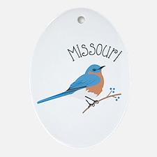 Missouri Bluebird Ornament (Oval)