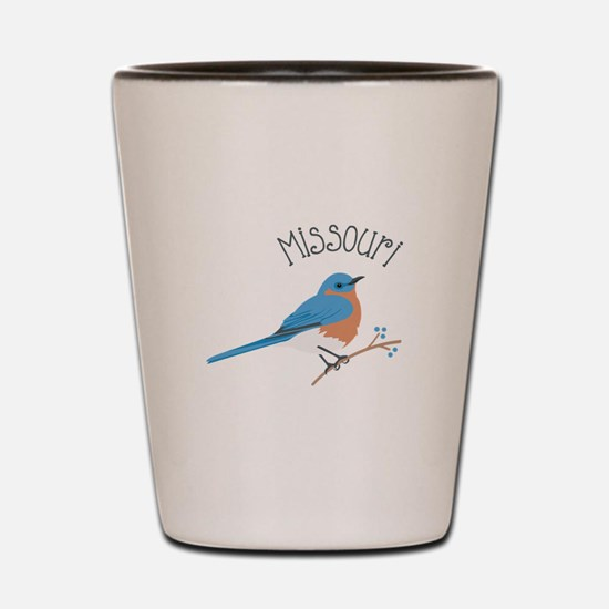 Missouri Bluebird Shot Glass