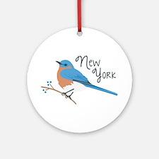 neW yoRK Bluebird Ornament (Round)