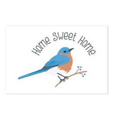 Home Sweet Home Bluebird Postcards (Package of 8)