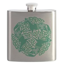 Celtic Irish Horses St Patrick's Day Flask
