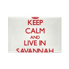 Keep Calm and Live in Savannah Magnets