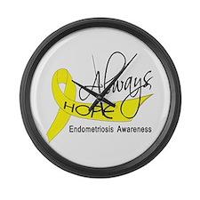 Always Hope Endometriosis Large Wall Clock