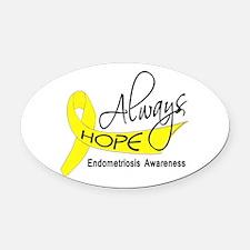 Always Hope Endometriosis Oval Car Magnet