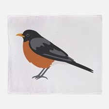 American Robin Throw Blanket