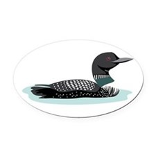 Great Northern Loon Oval Car Magnet