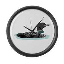 Great Northern Loon Large Wall Clock