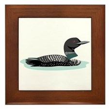 Great Northern Loon Framed Tile