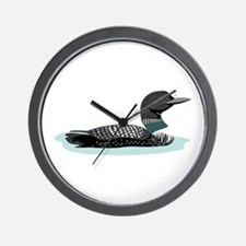 Great Northern Loon Wall Clock