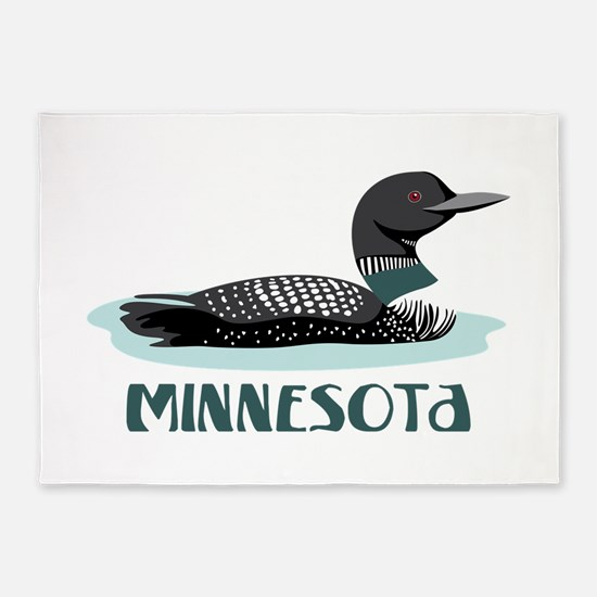MINNESOTA Loon 5'x7'Area Rug