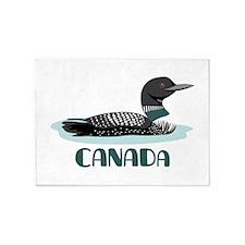 CANADA Loon 5'x7'Area Rug