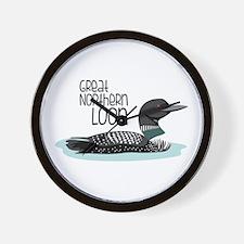 GReat NORtheRn Loon Wall Clock