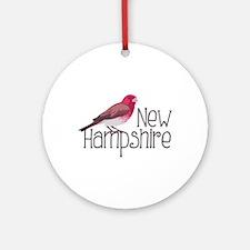 New Hampshire Finch Ornament (Round)
